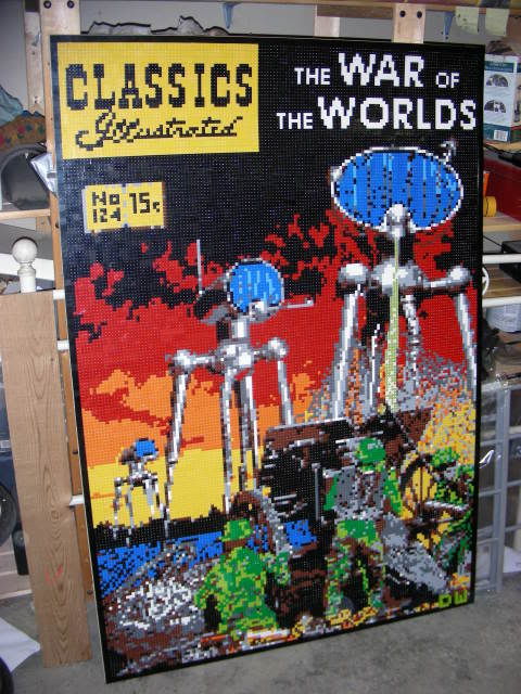 War of The Worlds Lego Mosaic