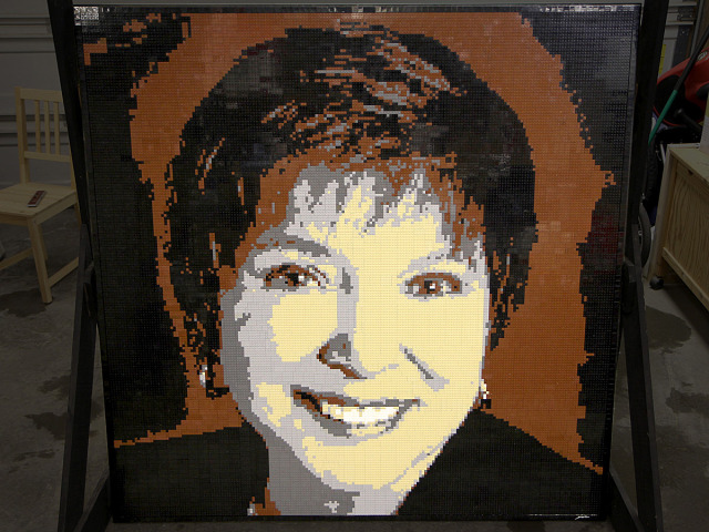 Irene closeup Lego Mosaic by Brickwares