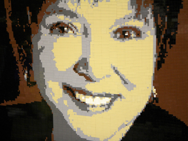 Irene extreme closeup Lego Mosaic by Brickwares