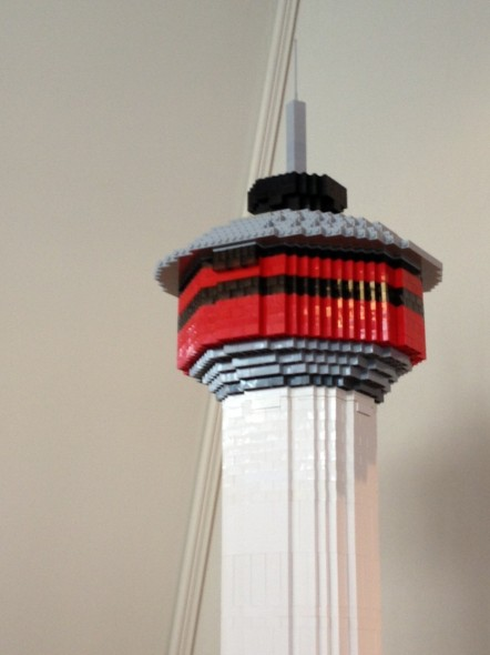 The Calgary Tower in Lego