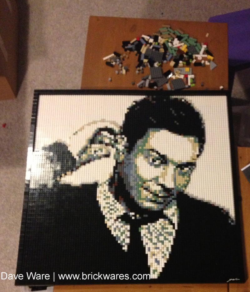Lego Mosaic of Jimmy Fallon, by Dave Ware of Brickwares Custom Mosaics.