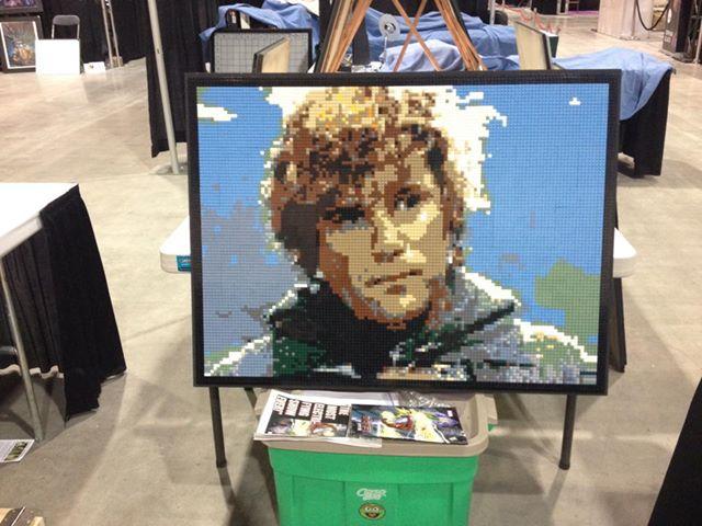 Sam Gamgee Lego Mosaic