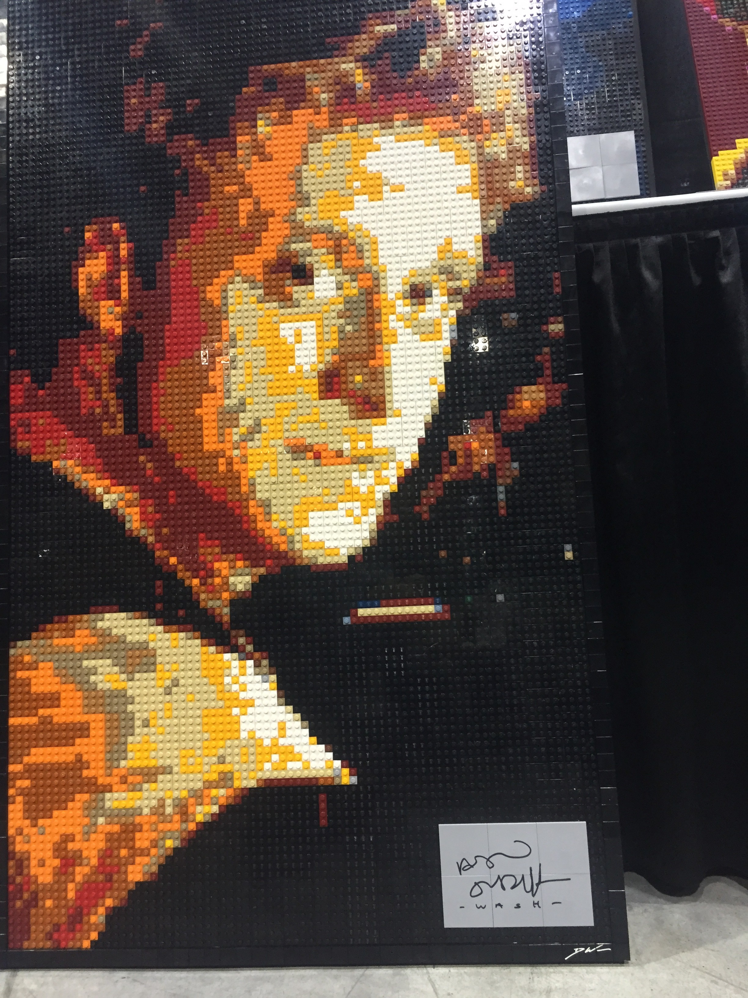 A Lego Mosaic of Wash from Firefly by Dave Ware (Brickwares)